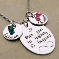 I Love You To Infinity and Beyond Personalized Necklace