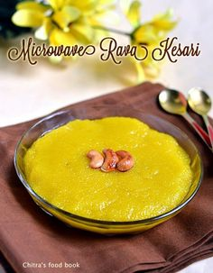 Microwave rava kesari/Sooji ka halwa recipe-Yummy,easy, Indian dessert recipe !