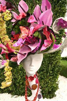 Chelsea Flower Show...floral hat