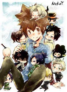 Tsuna and chibi characters