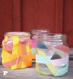 Washi Tape Lanterns by Pysselbolaget.