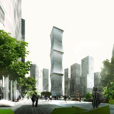 REX Proposes Retractable Facade for 'Equator Tower' in Malaysia