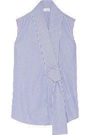Victoria Beckham Striped cotton-poplin top
