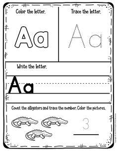 My First Animal Alphabet Preschool Worksheets Pre K Worksheets, Letter Worksheets For Preschool, Preschool Letters, Free Printable Worksheets, Preschool Printables, Preschool Alphabet Activities, Coloring Worksheets, Free Kindergarten Worksheets, Pre K Activities