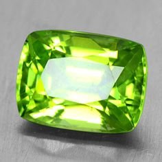 3.46 Cts Natural Amazing Green Peridot Loose Gemstone Cushion Cut Burma Video $ #Unbranded