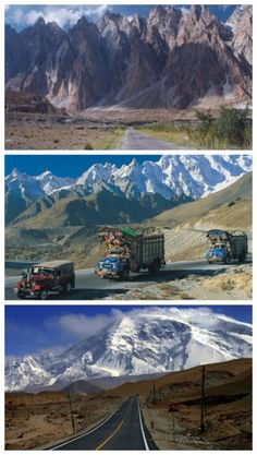 Karakoram Highway - the ninth wonder of the world. If you're afraid of heights don't click here! #spon #dangerous