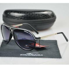 New Men Womens Retro Sunglasses Unisex High Quality Square Brown Carrera Glasses