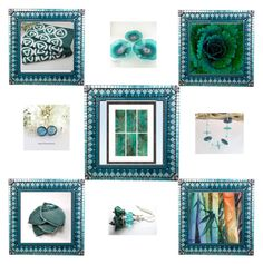 """""""Teal gifts"""" by keepsakedesignbycmm ❤ liked on Polyvore featuring jewelry, accessories and homedecor"""