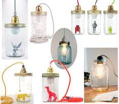 lampe_inspiration in 2020 Diy Design, Lamp Design, Diy Candles, Candle Jars, Diy Luz, Recycled Lamp, Kids Lamps, Lampe Decoration, Creative Lamps