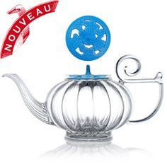 Théière My Beautiful teapot couvercle Sakura blue. Mariage Frères