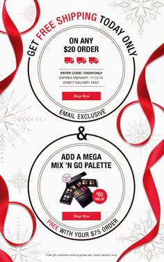 Free Avon Shipping TODAY ONLY - 11/15/14 - Use coupon TODAYONLY at http://yourAVON.com/mbertsch #Avon #Sales #AvonFreeShipping #StockingStuffers