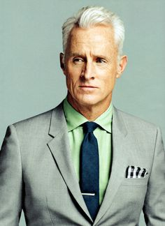 "James Slattery as Roger Sterling, my favorite ""Mad Men"" character.  He is the male me."