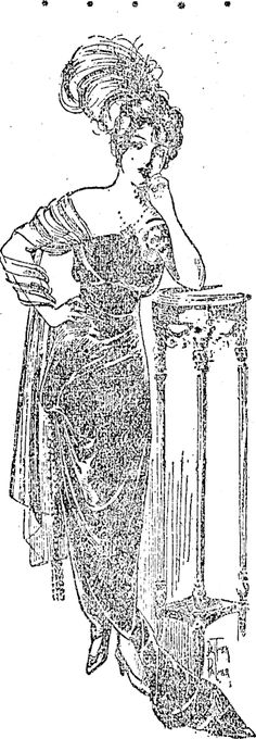 AN EVENING GOWN. Star , Issue 11058, 22 April 1914 Evening Gowns, Past, Stars, How To Wear, Evening Gowns Dresses, Evening Dresses, Past Tense, Robes De Soiree, Gown Dress