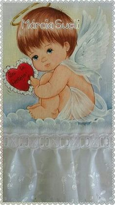 Marcia sueli medeiros Diy Embroidery Machine, Embroidery Works, Baby Painting, Fabric Painting, Cherub Baby, Baby Sheets, Cute Baby Dolls, Baby Drawing, Angel Pictures