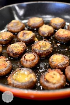 Easy Garlic Butter Roasted Mushrooms is an essential side dish to have in your recipe repertoire. Make and enjoy often! #glutenfree | iowagirleats.com