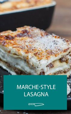 Sometimes you just NEED a good lasagna and this is a GREAT one. Chef Michael Bonacini has outdone himself with this masterpiece of a dish and he's letting us in on all his secrets. Chef Recipes, Pasta Recipes, Italian Recipes, Real Food Recipes, Pasta Sauces, Pasta Dishes, Noodles And More, Mushroom Lasagna, Homemade Pasta