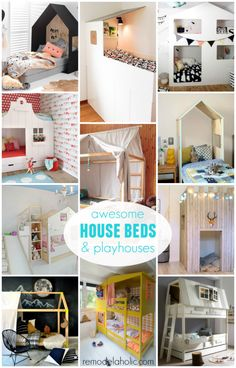 Add some fun kiddish style to your child's room with a house bed! We've rounded up our favorite looks for house-shaped beds, reading nooks, headboards, bunk beds, and loft beds!