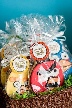 Angry Birds Party Favors: All of the party guests agreed that giant sugar cookies in the shape of Angry Birds made much better party favors than a gift bag with small candies and random little toys. Source: Simply Styled Home