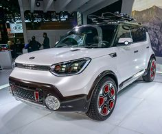 The Trail'ster gives the Soul more oomph, with a turbo up front, and a electric motor in back, giving the quirky little vehicle Kia Soul, Electric Motor, Concept Cars, Trail, Smile, Cars, Memories, Laughing