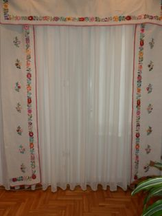 Items similar to Curtain 100 % natural linen handmade embroidery,vintage Hungarian Kalocsa on Etsy Vintage Tablecloths, Natural Linen, Hand Embroidery, Needlework, Curtains, Sewing, Handmade Gifts, Fabric, House