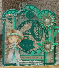 Cards created by Marianne: You make my heart sing!     LLL