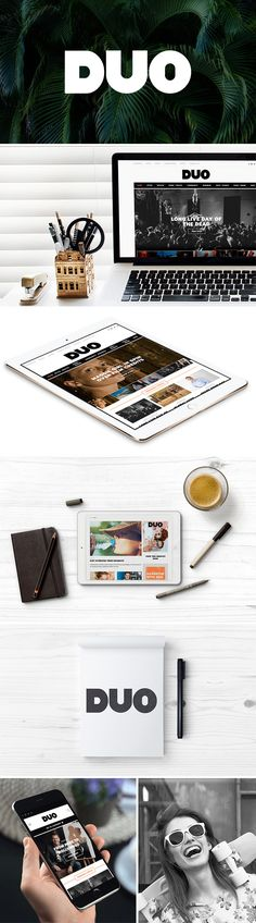 As one of the most-read lifestyle magazines in Townsville, Duo Magazine needed a digital presence that would strengthen its brand and a new website that would mirror the quality of the printed publication.   #logo #website #DUO #design