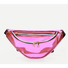 bdac370eeb3869 SheIn(sheinside) Zipper Front Fanny Pack (690 RUB) ❤ liked on Polyvore  featuring bags