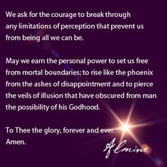 A prayer...