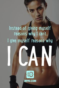"""Have a """"Can Do"""" attitude. #health #fitness #fit #dedication #workout #motivation #healthy #determination #exercise"""