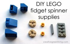 Looking for a lead free fidget spinner? Learn how to make a cool DIY LEGO fidget.