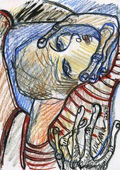 "Saatchi Art Artist Olga and Vladimir Ulianov; Drawing, ""Vladimir Ulianov SITUATION I"" #art"