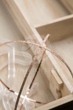 Ασημένια στέφανα γάμου σε ροζ απόχρωση διακοσμημένα με crystal fabric της  Swarovski elements 5ea76e69879