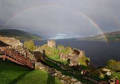 Caisteal Urquhart ruins on Loch Ness (Loch Ness, scotland)--been here. Loved this place...fun to explore & then cruise the Loch Ness!