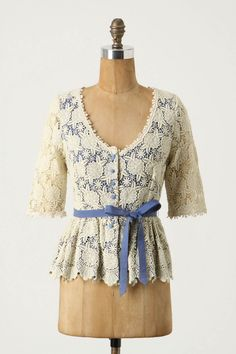 First of all, this shade of blue is so delicious, the lace is like a dollop of whipped cream, and the belt is the cherry on top.