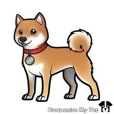 Cartoonize My Pet This is my Neeve, Shiba Inu