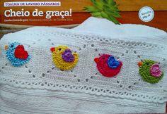 Tecendo Artes em Crochet: Meus Barradinhos Corujinhas e Pássaros na Revista Coleção Círculo Crochê Casa - Muito Feliz!