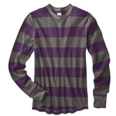 T2 Mossimo Supply Co. Men's Thermal Shirt grey and purple stripes
