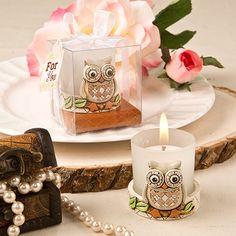 Vintage Owl Votive Candle Holder
