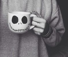 I used to have this Jack Skellington mug but my clumsy self tripped while carrying it and it broke. sad day :(