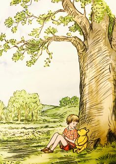 Pooh and Christopher Robin, from 'The Best Bear in All the World'
