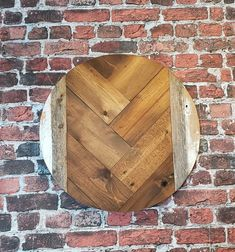 Chevron round wood wall decor reclaimed lumber by DenimnHeels on Etsy