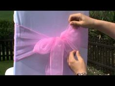 Wedding Chair covers - How to Tie an Organza Chair Sash - YouTube