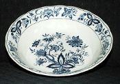 Nikko Harmony House Blue Bonnet Ironstone Vegetable Bowl