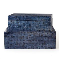 Set of 2 Midnight Blue Boxes design by Tozai $132