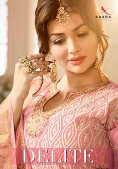 bef81339a8 kaara suits delite georgette sarara style bridal collection wholesale  dealer #IndianClothStore #Georgette #anarkalisuit