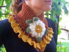 Crochet Scarves, Crochet Shawl, Crochet Stitches, Knit Crochet, Crochet Patterns, Love Crochet, Crochet Baby, Crochet Neck Warmer, Crochet Collar