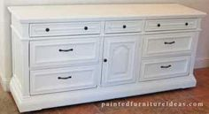 dresser redo - before and after pix.  Lots of other furniture makeovers here too