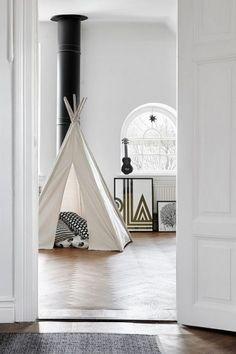 chambre enfant noir et blanc, chambre enfant graphique, chambre enfant épurée, Lovely Market