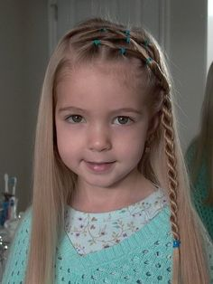 Braided Bangs Hairstyle for Little Girls via