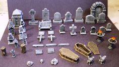 Terrain de jeu miniature - cimetière accessoire Kit